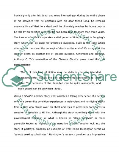 Pu Songlings Strange Tales from a Chinese Studio Spirit/Ghost Report essay example