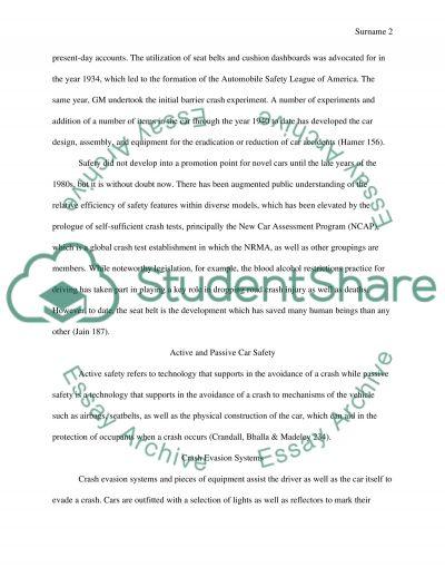 Car Safety essay example