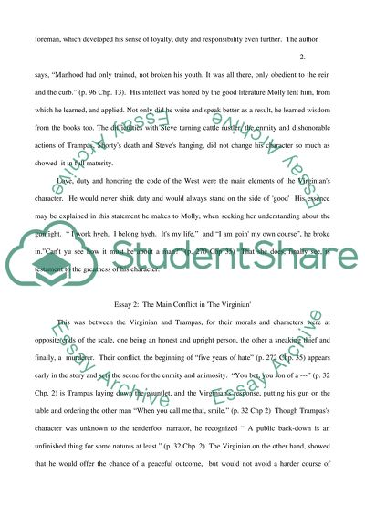 Essay The Virginian by Owen Wister