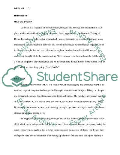 Dreams essay example