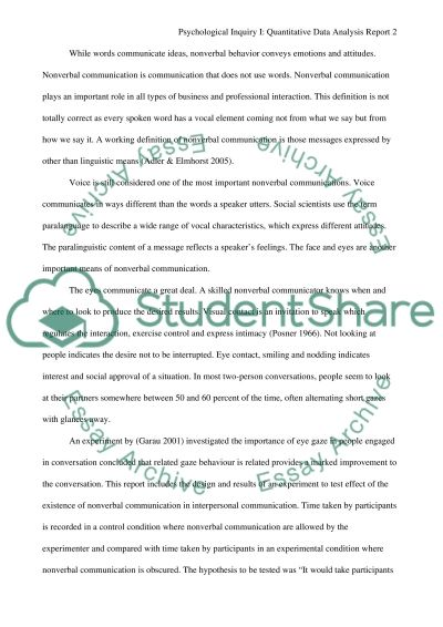 Nonverbal Communication essay example