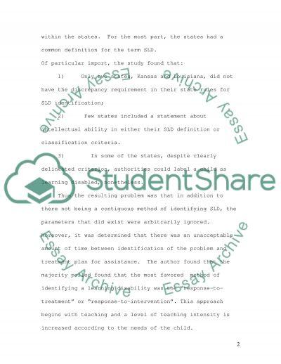 Education Article Summary