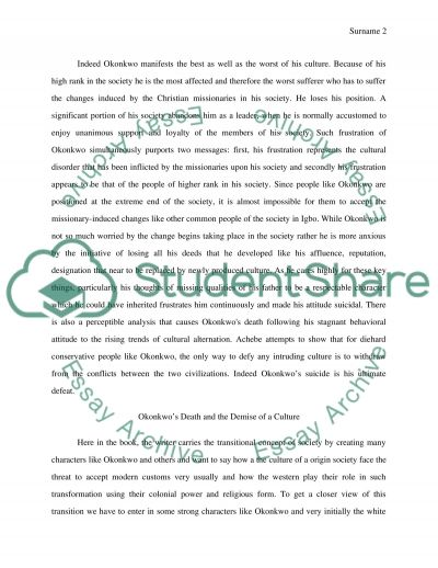 Tess Of The D Urbervilles Essay Topics Things Fall Apart By Chinua Achebe Outline For A Five Paragraph Essay also Summer Vacation Essay Things Fall Apart By Chinua Achebe Essay Example  Topics And Well  Biodiversity Essay