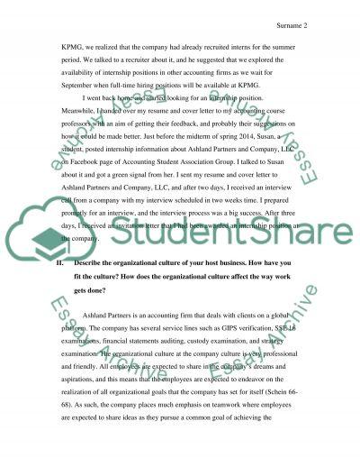 internship paper 2 essay
