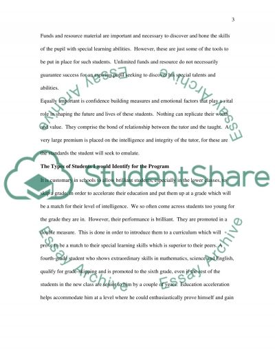 The Ultimate Program for Gifted Learners essay example