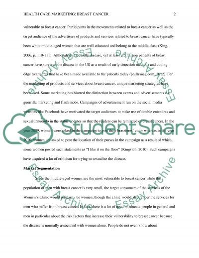 health care  marketing Essay example
