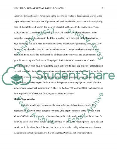 Health care marketing essay example
