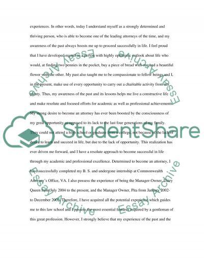 Law School essay example