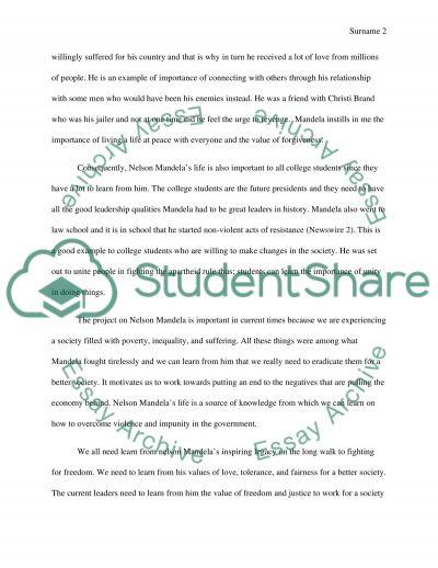 Editing an essay nelson mandela pdf