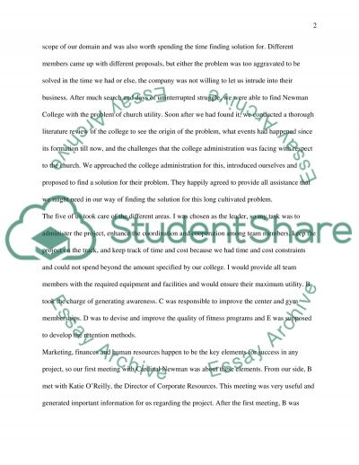 group project experience essay Practicum final reflection essay   as part of my practicum experience, i decided to focus on the areas that i wanted to continue my learning supervision, staff.
