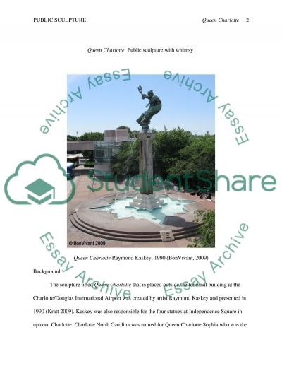 Queen Charlotte: Public Sculpture with Whimsy