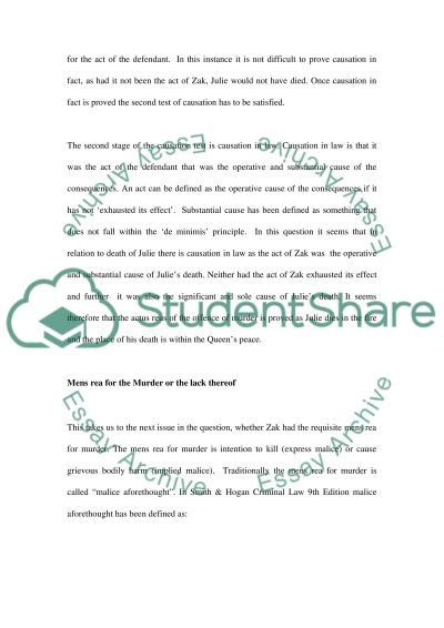 Law Relating to Murder essay example