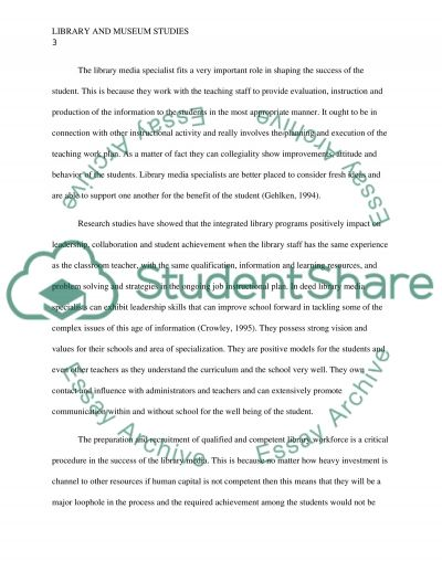 School Media Centers as Instructional Resources essay example