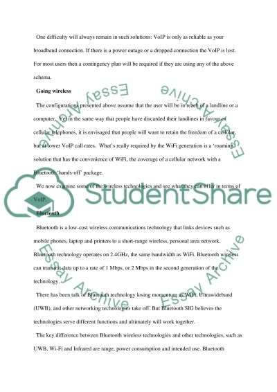 Wireless technology essay example