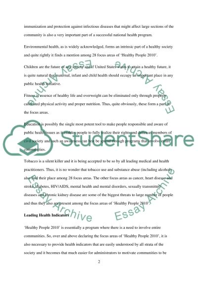 MPH502-Introduction to Public Health (Module 4 SLP) essay example