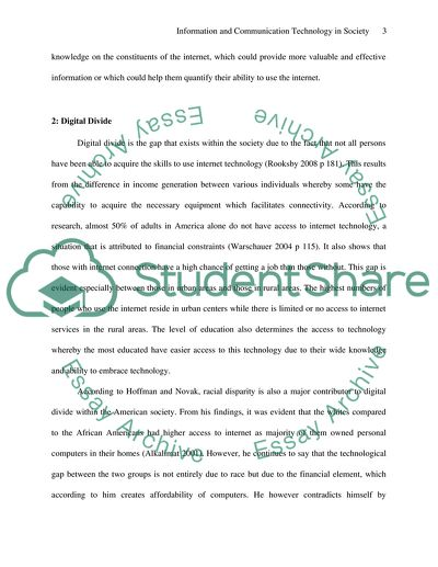 Essay My Family English Information And Communication Technology In Society  Essay Example Examples Of Essay Proposals also Argumentative Essay Topics On Health Information And Communication Technology In Society Essay Research Essay Topics For High School Students