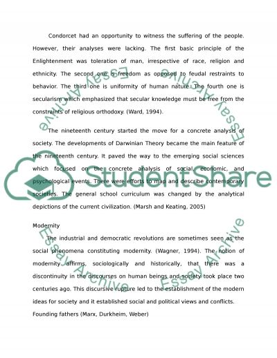 Sociology and Modernity essay example