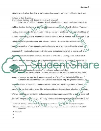 Inclusion2 essay example