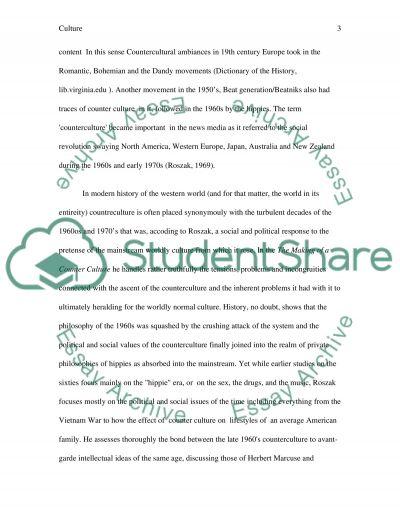 Counterculture essay example