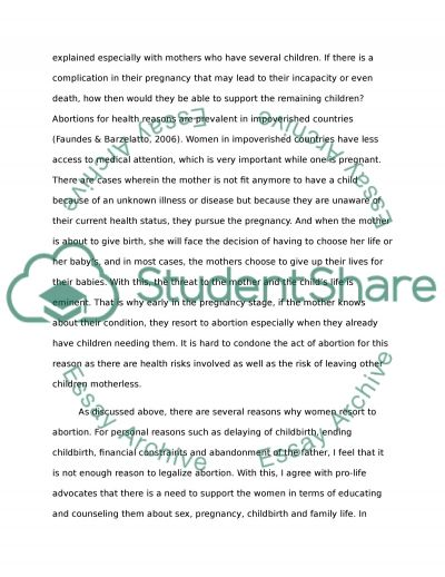 essay about family life background