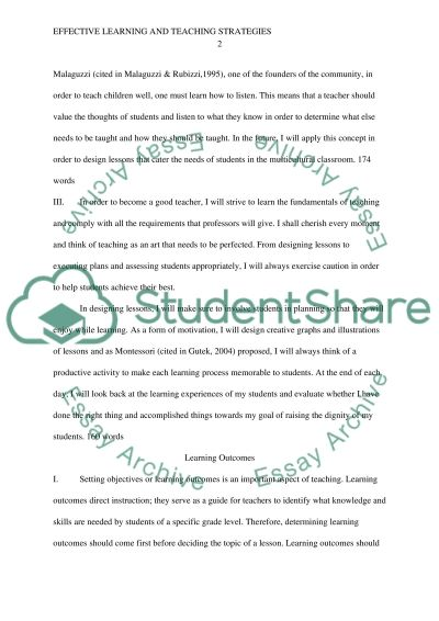 Teaching and Learning Styles essay example