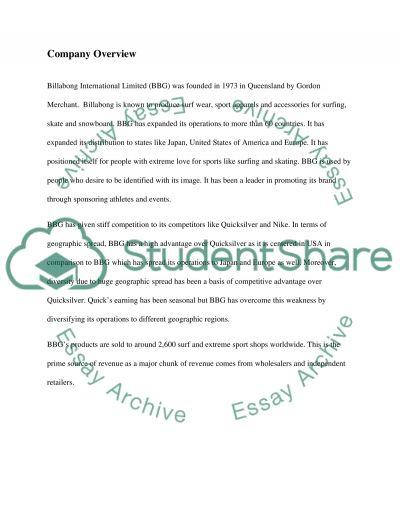 Billabong essay example