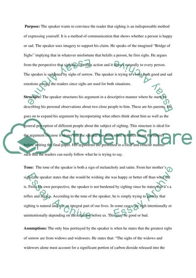 S.O.A.P Analysis for the ten essays