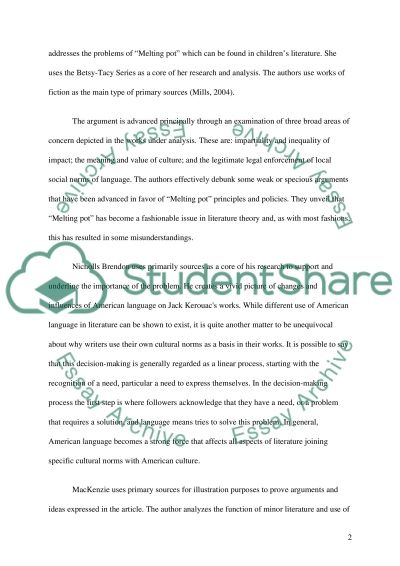 Thesis-driven essay about the connection between American language in literature and Melting Pot essay example