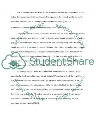 Descriptive statistics essay example