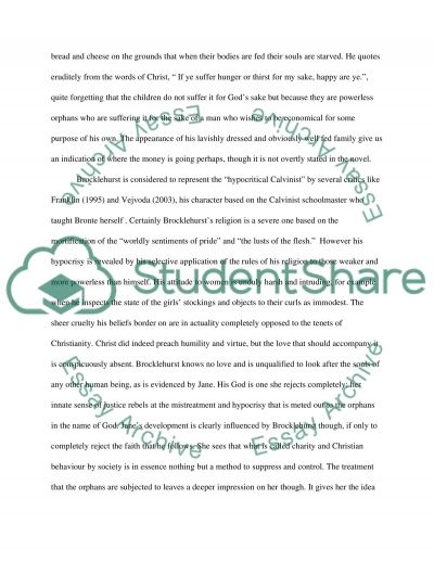 The Role Of Religion In The Development Of Jane Eyre essay example