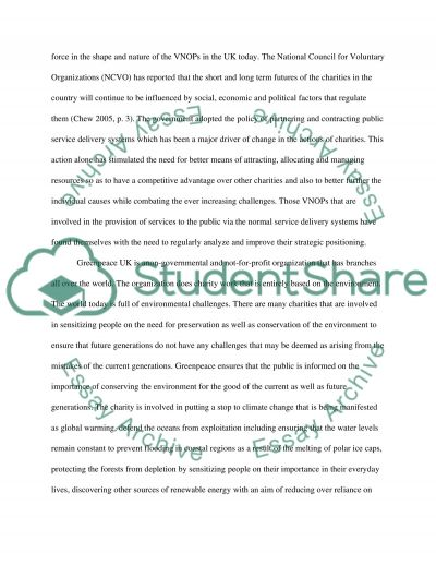 Marketing Management: Greenpeace  Essay example