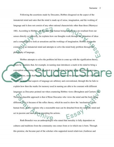 Essay on Moral and Ethics essay example