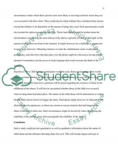 An associative relationship between drug abuse and child abuse essay example
