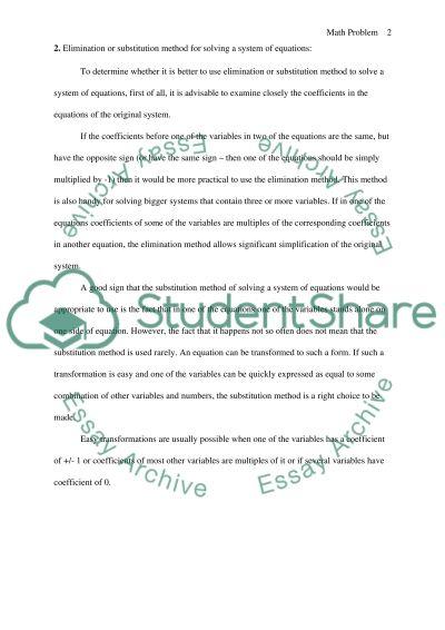College Math essay example