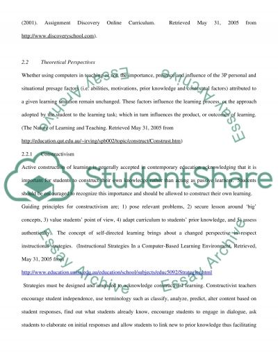 Report on a case study involving ICT and instructional strategies