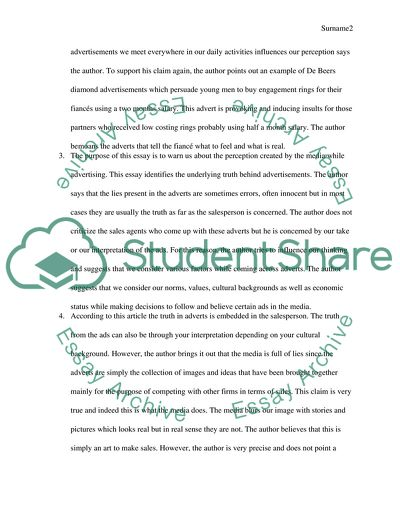 Critical analysis Essay Example | Topics and Well Written