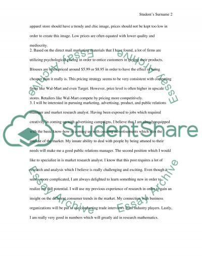 Marketing 301 essay example