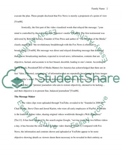 Alternative Media Analysis essay example