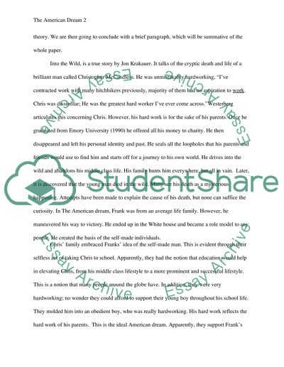 Essay Writing High School The American Dream Essay Persuasive Essay Thesis Examples also Health Issues Essay The American Dream Essay Example  Topics And Well Written Essays  Example Of A Thesis Statement In An Essay