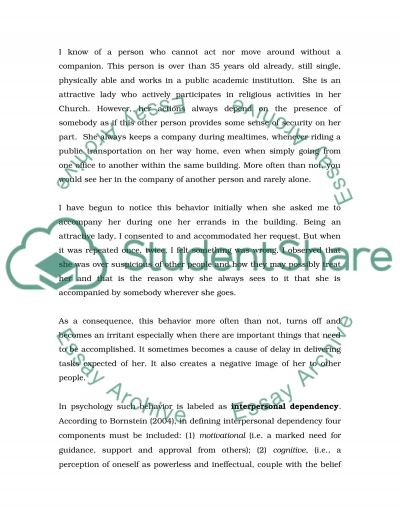 Critical Observation Paper essay example