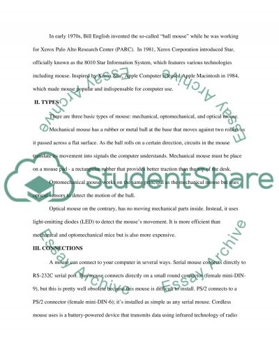 Everything you need to kow about a computer mouse essay example