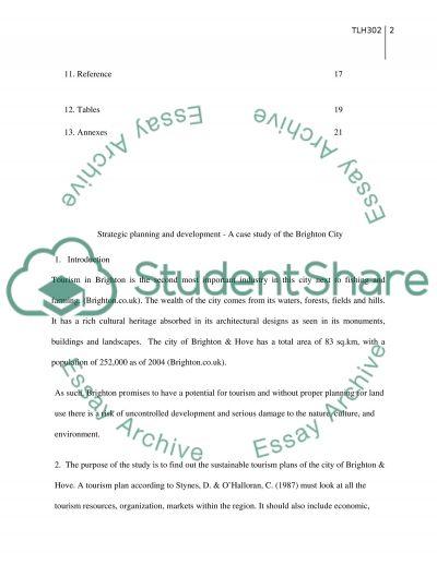 Strategic Tourism Planing case study of city Brighton essay example