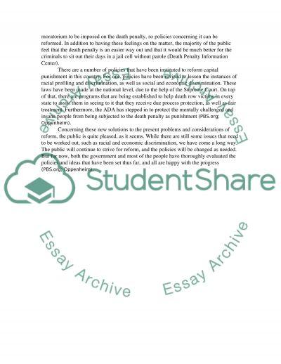 CAPITAL PUNISHMENT 3 essay example