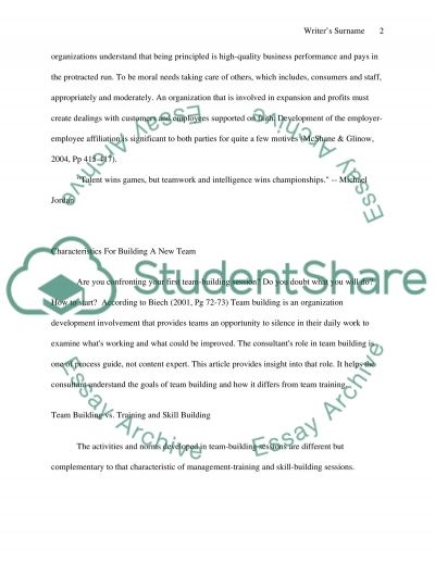 Making A Successful And Thus A Good Team essay example