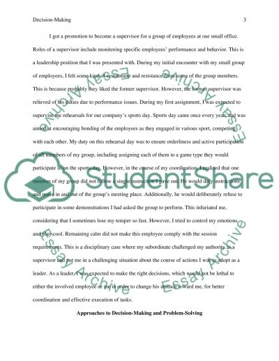 personal case study reflection Essay example