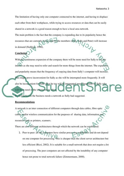 Scenario For Networking Assignment Networking Report Essay