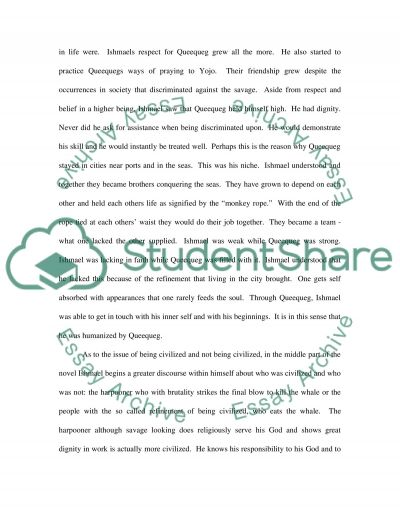 Novel Moby Dick essay example