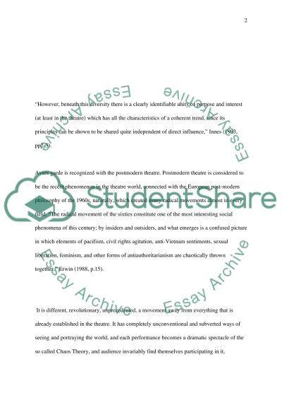 Avente Garde essay example