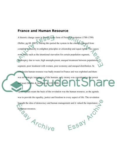 Human Resource Management and Issues in France