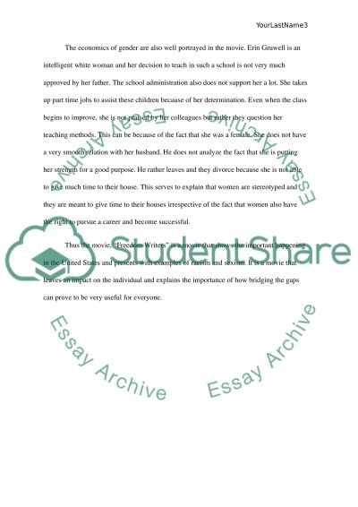 Freedom Writers Essay   Term Papers       Words